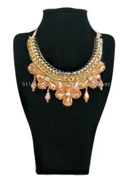 Women's Designer Elegant Crystal Necklace Chunky with Big Stones