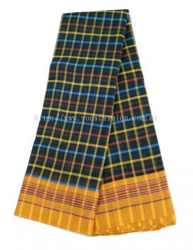 SOFT  MULTICOLOR  CHECKS  COTTON  SAREE
