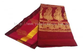 PURE BANARASI SILK COTTON SAREE WITH  MEENAKARI DESIGN