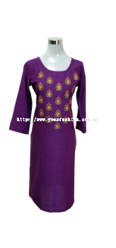 NEW TWO TONE SOFT COTTON KURTI WITH THREAD WORK