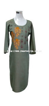 SOFT COTTON EMBROIDED KURTI WITH THREAD WORK