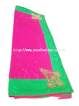 Women's Embroidery Work with Piping Border Silk Saree with Blouse Piece