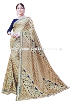 WOMEN,S EMBROIDERED VELVET HEAVY SAREE WITH BLOUSE PIECE