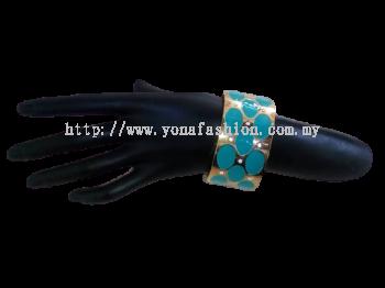 Women's designer stone studded cuff colourful bracelet bangle.