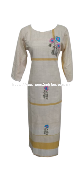 WOMEN'S FASHIONABLE KRISHNA LONG KURTI WITH THREAD WORK.