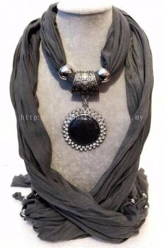 Chocker Shawl (Dark Grey)