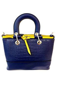 Top Handle Bag (Blue/Yellow)