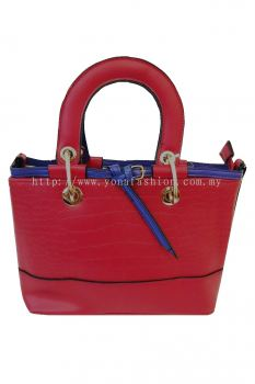 Top Handle Bag (Red/Blue)