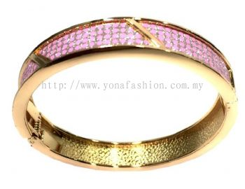 Shiny Polkadot Bangle ( Pink )
