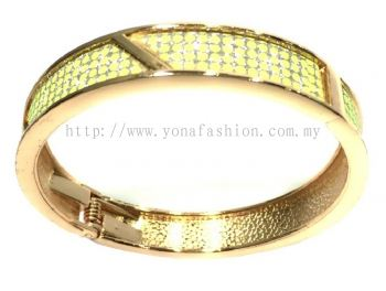 Shiny Polkadot Bangle ( Yellow/Green )