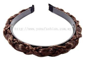 Fashion Synthetic Bohemia Braid Hairband (Dark Brown)