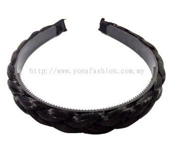 Fashion Synthetic Bohemia Braid Hairband (Black)