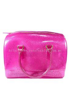 Pillow Candy Handbag (Glittering Pink)