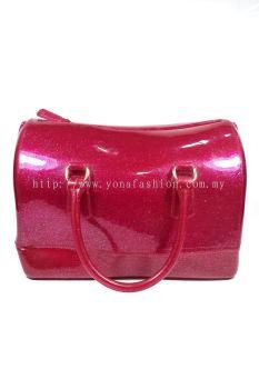 Pillow Candy Handbag (Glittering Maroon)