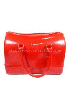 Pillow Candy Handbag (Glittering Hot Red)
