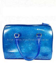 Pillow Candy Handbag (Glittering Blue)