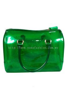 Pillow Candy Handbag (Clear Green)