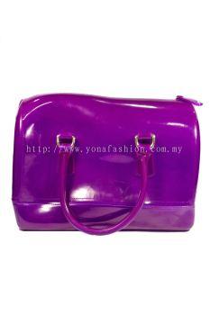 Pillow Candy Handbag (Hot Striking Purple)