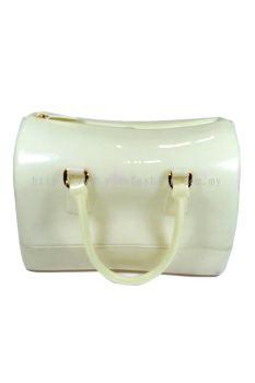 Pillow Candy Handbag (White Cream)
