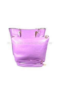 2 in 1 PU Leather Handbag/Sling Bag (Purple)