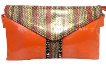 Designer Clutch (Orange)
