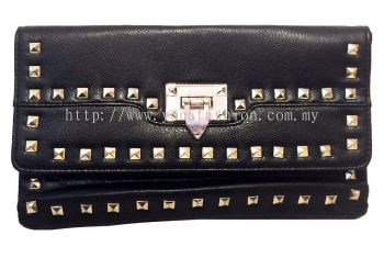Leather Clutch (Black)