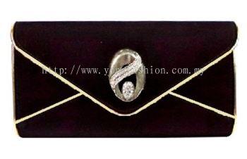 Elegant Velvet Clutch (Black)