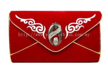 Design Velvet Clutch (Red)