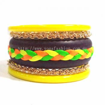 Fancy Braid Bangle (Mix Colour)