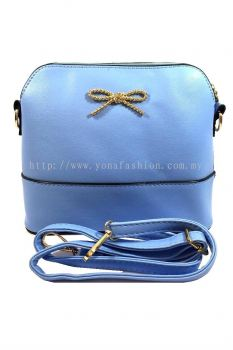 PU Leather Sling Bag (Blue)