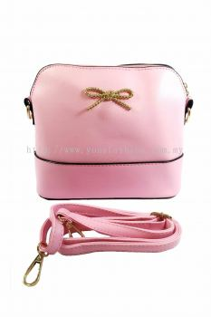 PU Leather Sling Bag (Pink)