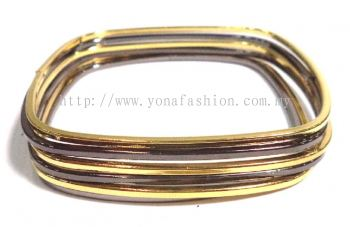 Tiny Colourful Bangle (Black/Gold)