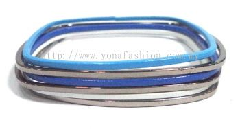 Tiny Colourful Bangle (Blue/Silver/White)