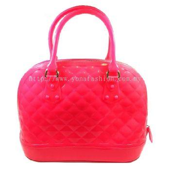 Ladies Top Handle Shell Bag (Shocking Pink)