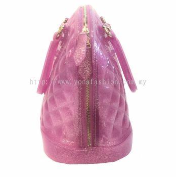 Ladies Top Handle Shell Bag (Purple)