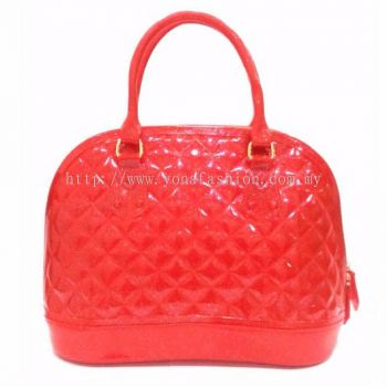 Ladies Top Handle Shell Bag (Red)