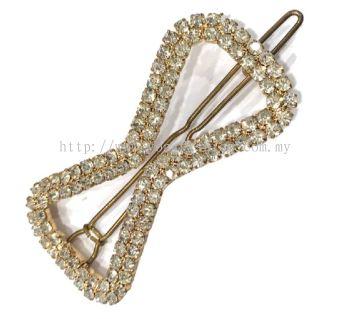 Stone Hair Pin (Gold)