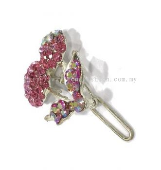 Colourful Stone Hair Pin (Pink)