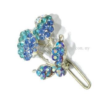 Colourful Stone Hair Pin (Blue)