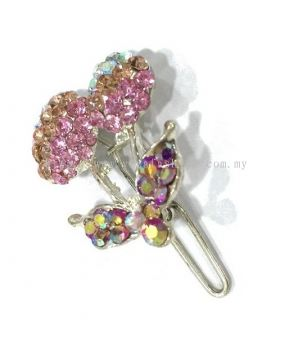 Colourful Stone Hair Pin (Light Pink)
