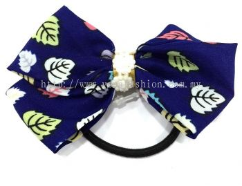 Ribbon Hair Tie (Dark Blue)