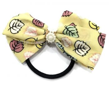 Ribbon Hair Tie (Light Yellow)
