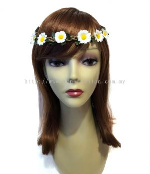 Flower Head Band (White)