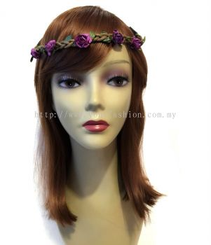 Flower Head Band (Purple)