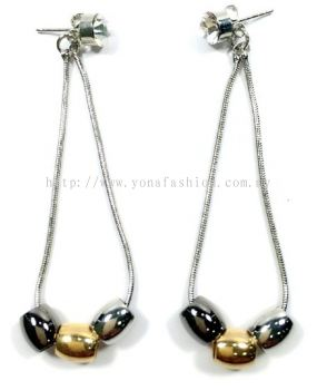 Long Crystal & Beads Earring (Assorted)