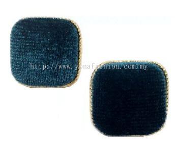 Fabric Square Earring (Emerald Green)