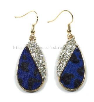 Tiger Skin Stone Earring (Blue)