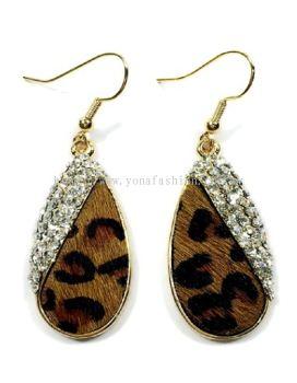 Tiger Skin Stone Earring (Brown)