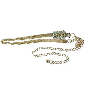 Ladies Style Stone Chain Belt (Gold)