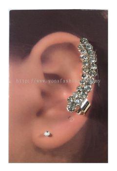 Elegant Stone Ear Cuff (Silver)